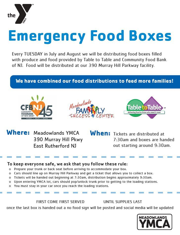 Emergency Food Boxes