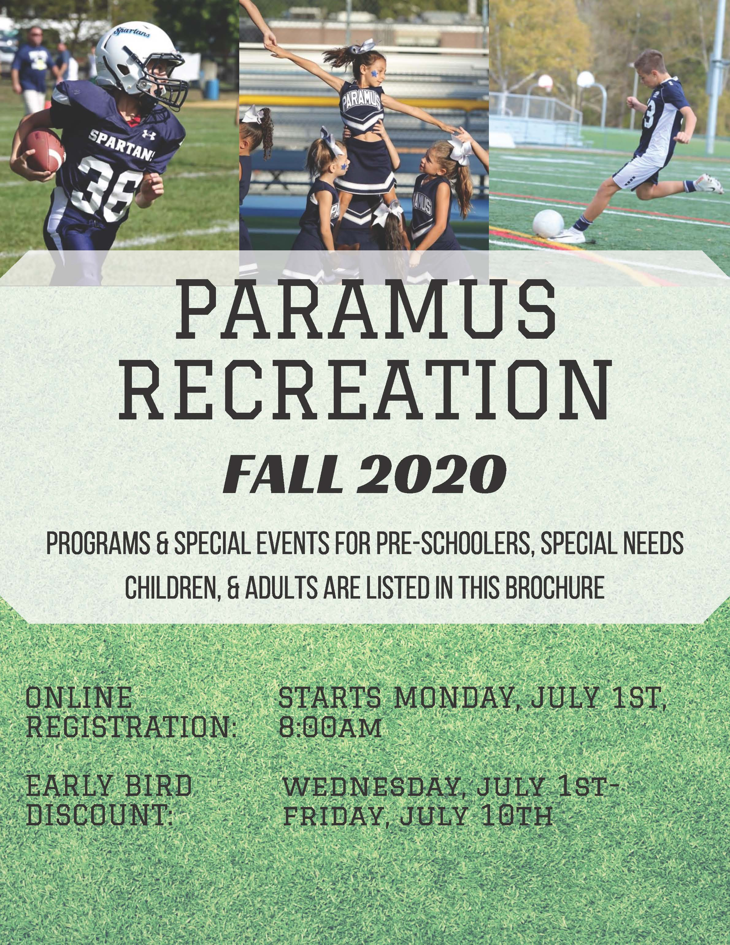 Paramus Rec Fall 2020 Brochure